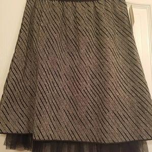Knee length grey skirt